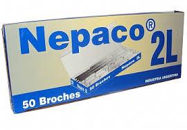 Broches Nepaco metalicos Nº2L x 50