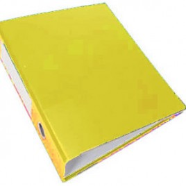 Bibliorato oficio color amarillo forrado en PVC lomo de 7 cm Bantex