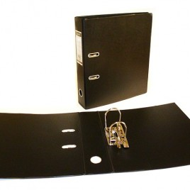Carpeta oficio lomo 5cm 2 anillos negra