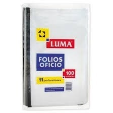 Folios Luma Oficio x 100 Reforzado Premium