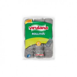Lana Virulana acero inoxidable pack x 8