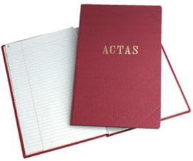 Libro de actas foliado x 100 hjs ( 200 paginas)