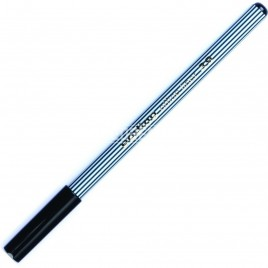Microfibra negra con punta de metal Edding e-39