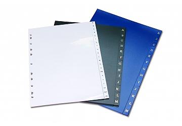 Separador A4 alfabetico A/Z plastico