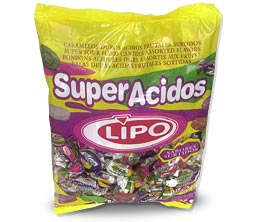 Bolsa de caramelos Lipo super acidos x 900 grs