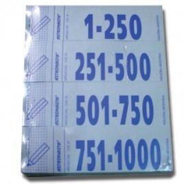 Talonario numerico guardarropa del 1 al 1000