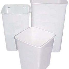 Cesto papelero plastico 13 litros cuadrado (24 5x 24 5x 30 5 cm)