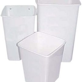 Cesto papelero plastico 13 litros cuadrado para escritorio