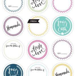Etiquetas Avery con formas Love  Mariposa  Flor paquete x 6 unidades