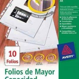 Folio avery A4 con fuelle expandible x 10 unidades