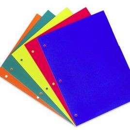 Separadores carta cartulina color  x 25 unidades