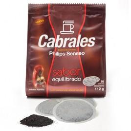 Cafe Cabrales Sabor equilibrado p/phillips Senseo  caja de 12 pack x 16 bolsitas de 7 g