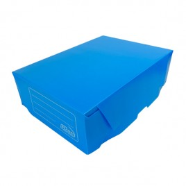 Caja Archivo Plastico Azul OFICIO 12 (36x25x12)
