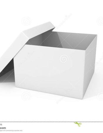 Caja archivo carton blanca armada c tapa separada