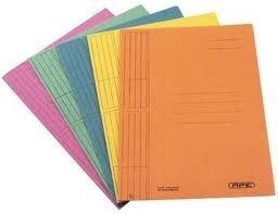 Carpeta interna 3 posiciones amarillas Nepaco pack x 50