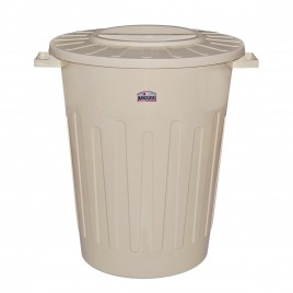 Cesto blanco redondo x 120 litros con tapa