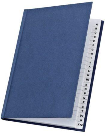 Cuaderno indice alfabetico