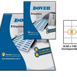 Etiquetas en hoja A4 – 63,5 x 33 x 25 hojas (DIX4131)