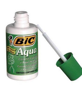 Frasco Liquido Corrector Bic aqua