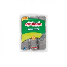 Lana Virulana acero inoxidable pack x 8