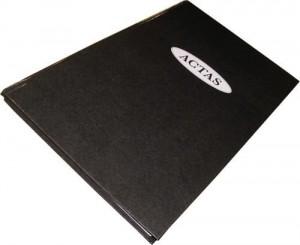 Libro de actas foliado x 100 hjs