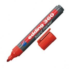Marcador recargable para pizarra blanca color rojo E360