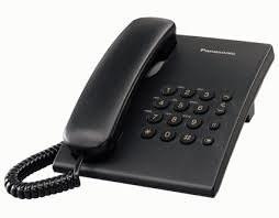 Telefono de mesa Panasonic 500.Negro. Por unidad.