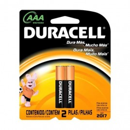 Pilas Duracel AAA x 2 unidades