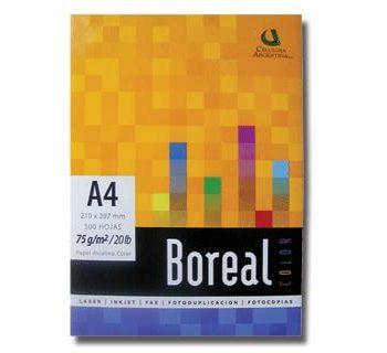 Resma Boreal A4 mircroperforada al medio 75 Gr