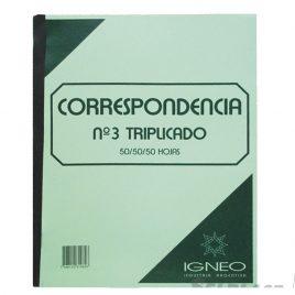Talonarios correspondencia diseño nº 3 22 x 28 triplicado