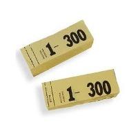 Talonarios guardarropas del 1 300