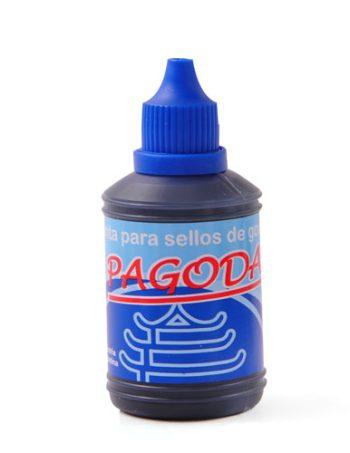 Tinta Pagoda para sellos azul