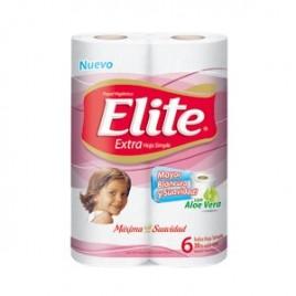 Papel higienico Elite x 30 mtrs blanco x 6 unidades