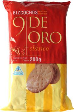 Galletitas 9 de oro x 200 gr