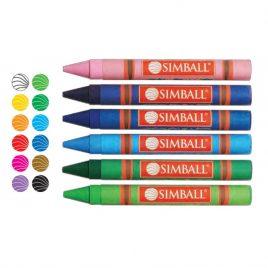 Crayones Symball jumbo gigante x 12 colores