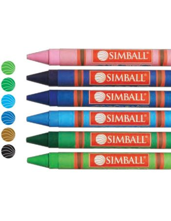 Crayones Symball jumbo gigante x 12 colores