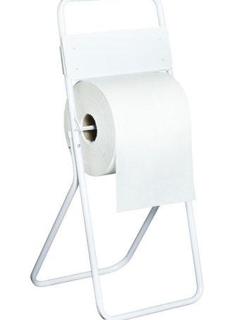 Dispenser Porta bobina de pie para bobinas de papel de 400 mtrs o mas