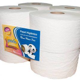Papel higienico Tisu bobina jumbo x 300 mtrs blanco x 8 unidades cono chico