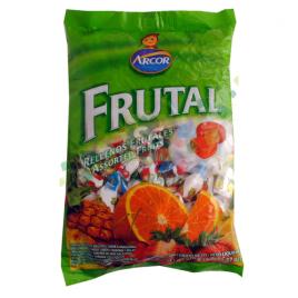 Caramelos rellenos Arcor frutal 810 gr